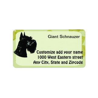 Giant Schnauzer ~ Green Leaves Design