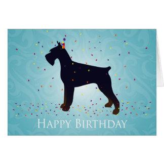 Giant Schnauzer Happy Birthday Design Greeting Card