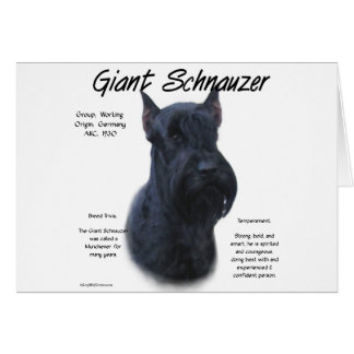 Giant Schnauzer History Design Greeting Cards