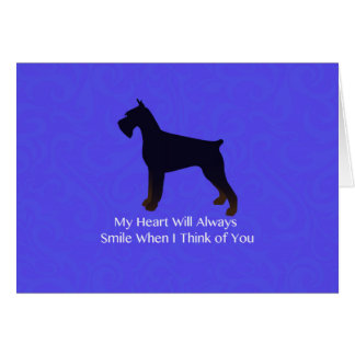 Giant Schnauzer Holiday Greetings Card