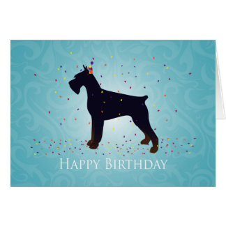 Giant Schnauzer Holiday Greetings Cards