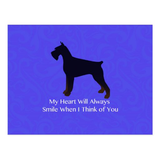 Giant Schnauzer Holiday Greetings Post Card
