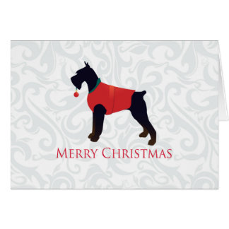 Giant Schnauzer Merry Christmas Design Greeting Card