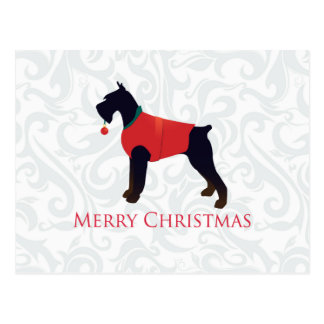 Giant Schnauzer Merry Christmas Design Postcard