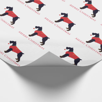 Giant Schnauzer Merry Christmas Design Wrapping Paper