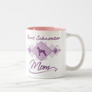 Giant Schnauzer Mom Two-Tone Coffee Mug