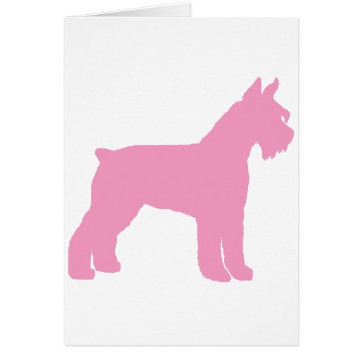 Giant Schnauzer (pink) Cards