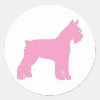 Giant Schnauzer (pink) Classic Round Sticker