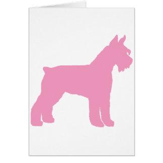 Giant Schnauzer (pink) Greeting Card