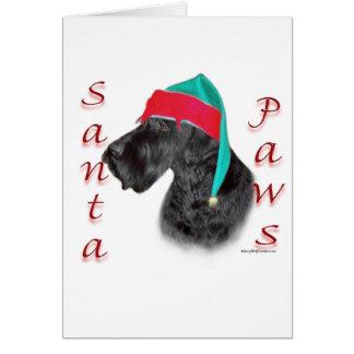 Giant Schnauzer Santa Paws Greeting Card