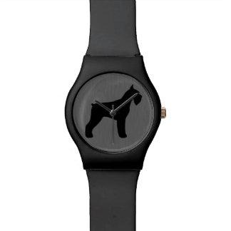 Giant Schnauzer Silhouette Watch
