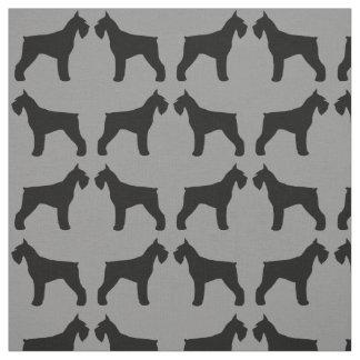 Giant Schnauzer Silhouettes Pattern Fabric