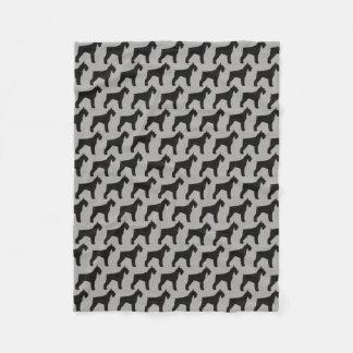 Giant Schnauzer Silhouettes Pattern Fleece Blanket