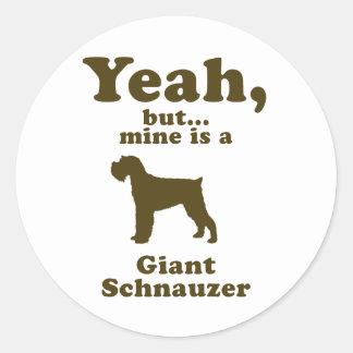 Giant Schnauzer Stickers