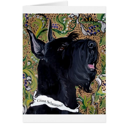 Giant Schnauzers Greeting Cards