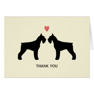 Giant Schnauzers Wedding Thank You Greeting Card