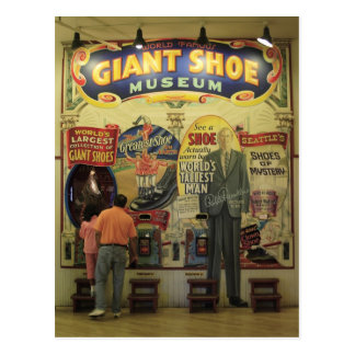 Giant Shoe Museum Postcard