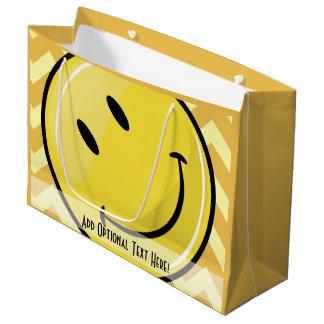 Giant Smiley Custom Yellow Gift Bag