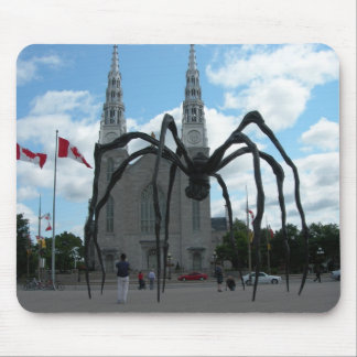 Giant spider sculpture Quebec Mouse Pad