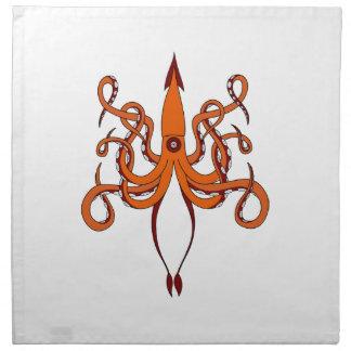 giant squid napkin
