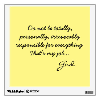 Giant Sticky Note from God Wall Decal