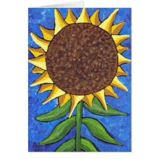 Giant Sunflower - greeting card