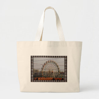 Giant Wheel Rides New Delhi India Craft Festivals Large Tote Bag