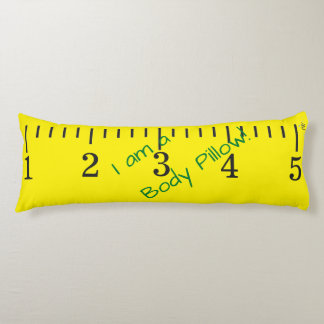 Giant Yellow Tape Measure - Personalize it! Body Pillow