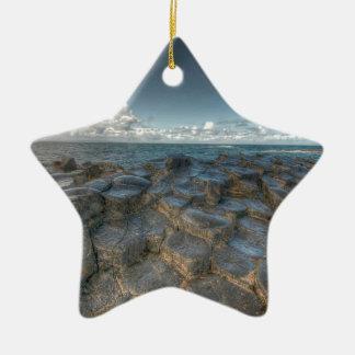 Giant's Causeway, Northern Ireland Ceramic Star Ornament