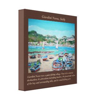 """Giardini Naxos - 12"""" x 12"""", 1.5"""", Single Canvas Print"""