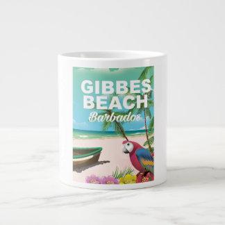 Gibbes Beach Barbados vacation poster Giant Coffee Mug