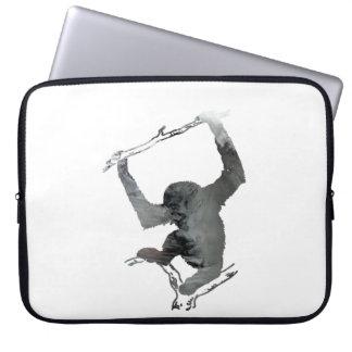 Gibbon art laptop sleeve