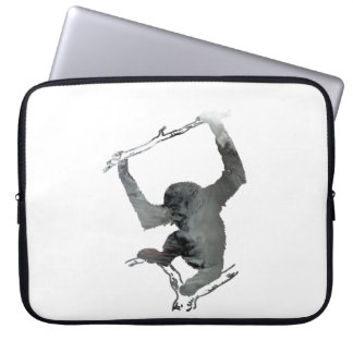 Gibbon art laptop sleeves