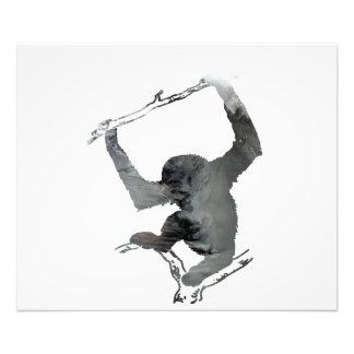 Gibbon art photo print