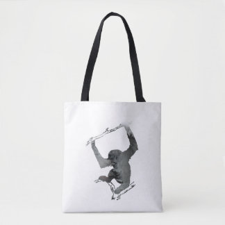 Gibbon art tote bag