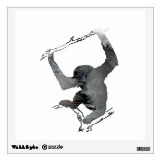 Gibbon art wall decal