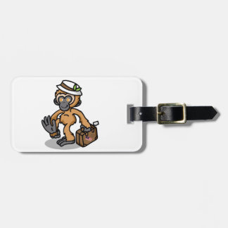 Gibbon Luggage Tag