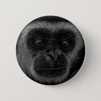 Gibbon wildlife indonesia mammal 2 inch round button