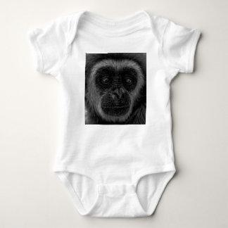 Gibbon wildlife indonesia mammal baby bodysuit
