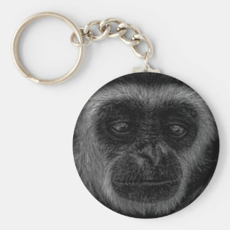 Gibbon wildlife indonesia mammal keychain