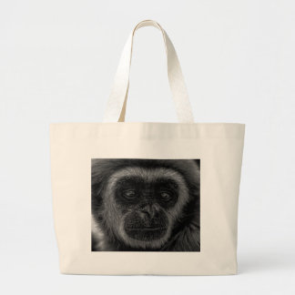 Gibbon wildlife indonesia mammal large tote bag