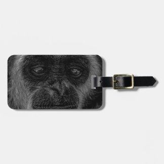 Gibbon wildlife indonesia mammal luggage tag