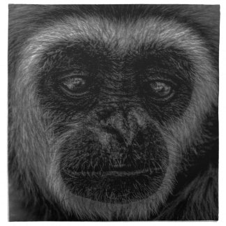 Gibbon wildlife indonesia mammal napkin
