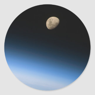 Gibbous Moon from Orbit Sticker