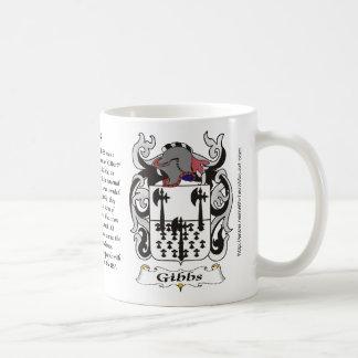 Gibbs Family Coat of Arms mug