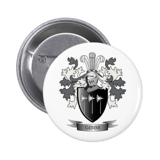 Gibbs Family Crest Coat of Arms 2 Inch Round Button