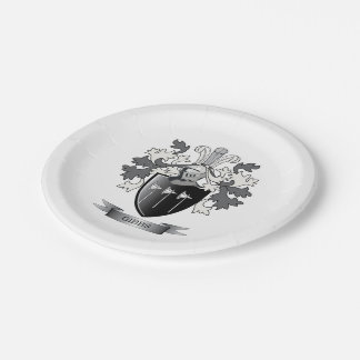 Gibbs Family Crest Coat of Arms 7 Inch Paper Plate