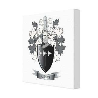Gibbs Family Crest Coat of Arms Canvas Print