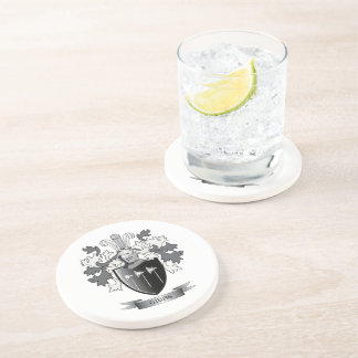 Gibbs Family Crest Coat of Arms Coasters