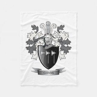 Gibbs Family Crest Coat of Arms Fleece Blanket